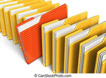 folders, bestand, roeien