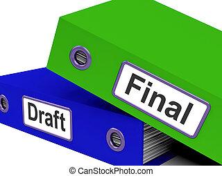 folders, rewrite, bewerken, wisselbrief, document, eind-,...
