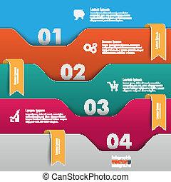 folders, sinaasappel, infographic, vlaggen