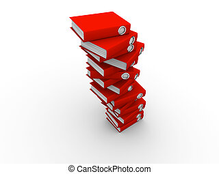 folders, stapel