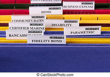 folders, voor, documenten