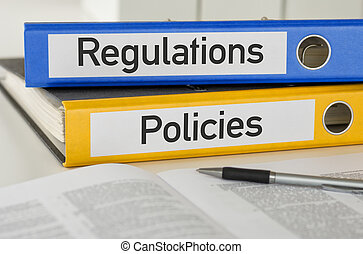 Folders with the label Regulations and Policies