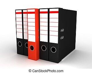 folders, witte achtergrond