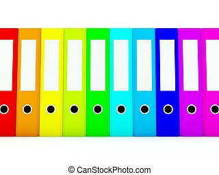 folders, witte , gekleurde, vrijstaand