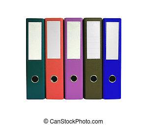 folders, witte , vrijstaand, kantoor