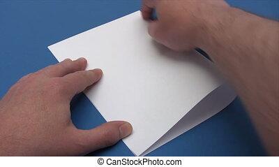 Folding a Paper Boat - Time Lapse - Canon HV30. HD 16:9 1920...