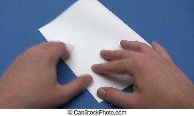 Folding a Paper Plane - Time Lapse - Canon HV30. HD 16:9...