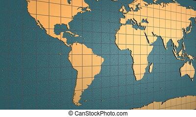 Folding and Unfolding Globe - HD looping digital animation...