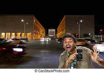 Folding camera Photographer in Rome