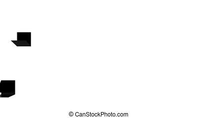 Folding cube background. Full HD Resolution: 1920x1080