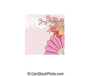 Folding Fan abstract card