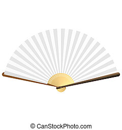 Detailed vector illustration of a folding fan. You can insert your images into fan area and make it by Multiply mode.