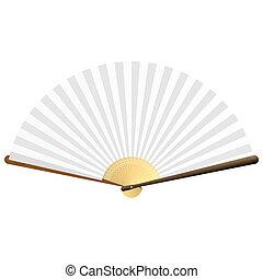 Folding fan - Detailed vector illustration of a folding fan....