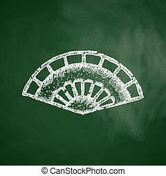 folding fan icon