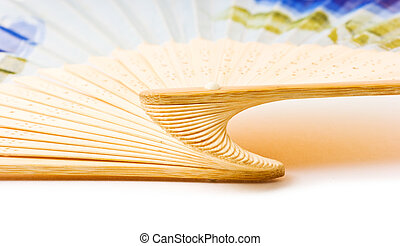 Folding fan isolated on a white background.
