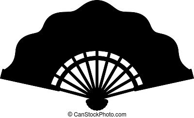 Folding fan, shade picture