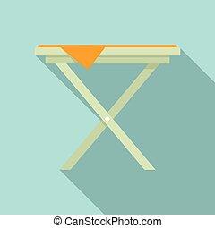 Folding iron board icon. Flat illustration of folding iron board vector icon for web design