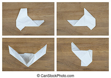 Folding Paper Mask 4/5 - Steps of folding a paper facial ...