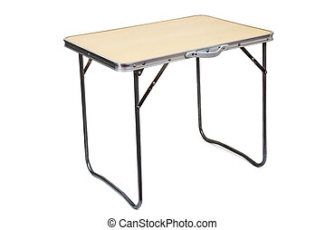 Folding Table - folding table it is isolated on a white...