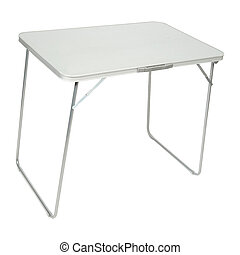 Folding table isolated on white