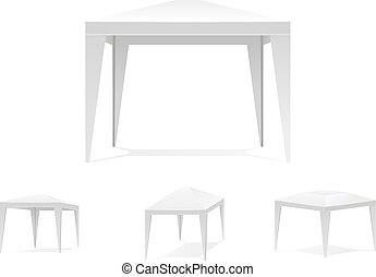 Folding white tent or canopy