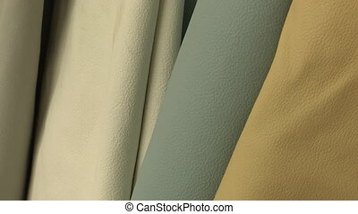 Folds of colored leather