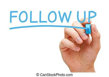 folgen, markierung, auf, blaues