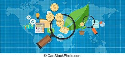 folha, árvore dinheiro, crescimento, investation, investir, magnifier, investimento