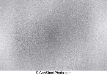 folha, abstratos, metal, textura, fundo, escovado, prata, superfície