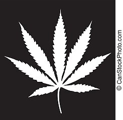 folha cânhamo, ícone