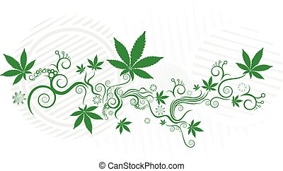 folha cânhamo, marijuana, textura