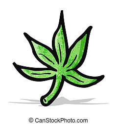 folha, caricatura, marijuana