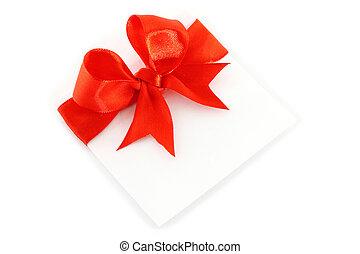 folha, com, vermelho, feriado, arco, branco, fundo