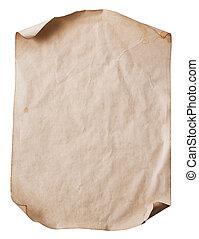 folha, de, antigas, papel