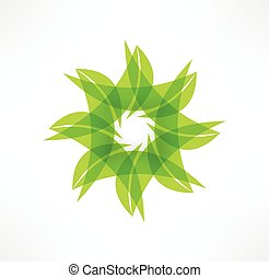 folha, eco, concept., icons., logotipo, design.