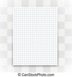 folha, experiência., papel, em branco, branca, transparente