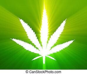 folha, marijuana, ilustração
