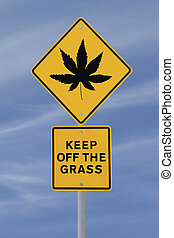 folha, marijuana, sinal estrada