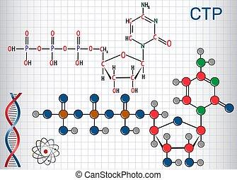 folha, molécula, molecule., molécula, aquilo, triphosphate,...