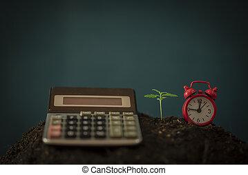 folha, negócio, concept., dólar, marijuana, notas., cannabis