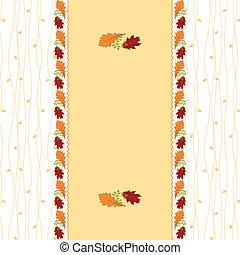folha outono, cartão cumprimento