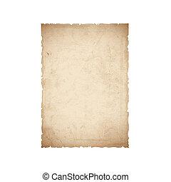 folha, papel, antigas