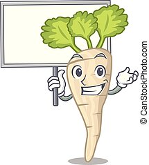 folha, personagem, parsnip, trazer, tábua, raiz, caricatura