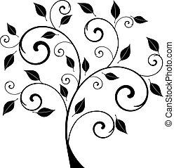 folhas, árvore