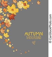 folhas, fundo, abstratos, maple