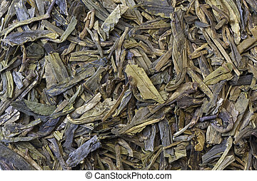 folhas, fundo, chá, verde