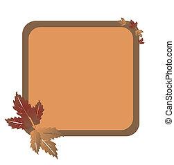 folhas, fundo, ilustração, outono