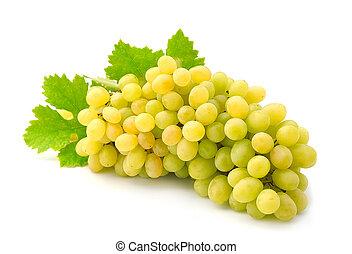folhas, maduro, uvas