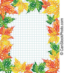 folhas, maple, multi-colorido