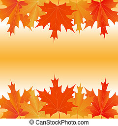 folhas, outonal, fundo, maple